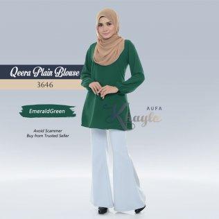 Qeera Plain Blouse 3646 (EmeraldGreen)