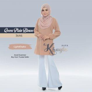 Qeera Plain Blouse 3646 (LightKhakis)