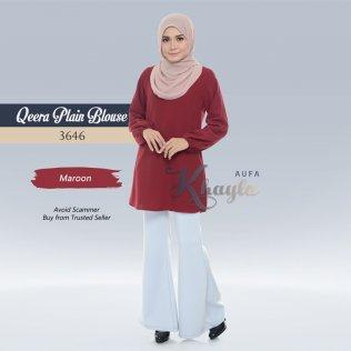 Qeera Plain Blouse 3646 (Maroon)