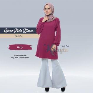 Qeera Plain Blouse 3646 (Berry)