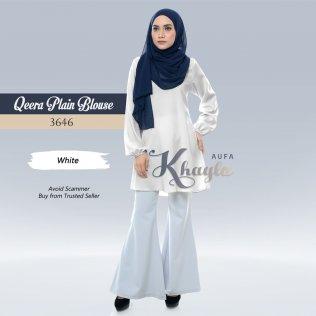 Qeera Plain Blouse 3646 (White)