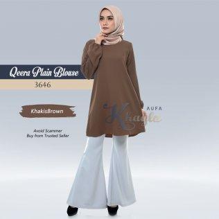 Qeera Plain Blouse 3646 (KhakisBrown)