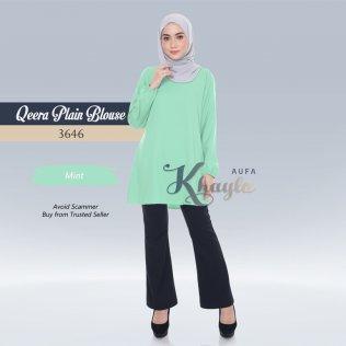 Qeera Plain Blouse 3646 (Mint)