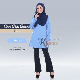 Qeera Plain Blouse 3646 (BabyBlue)