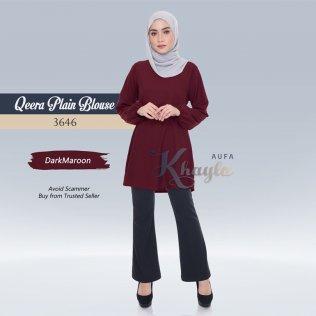 Qeera Plain Blouse 3646 (DarkMaroon)