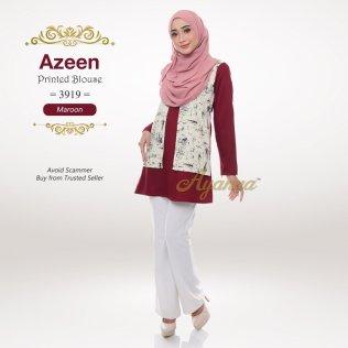 Azeen Printed Blouse 3919 (Maroon)