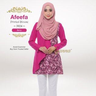 Afeefa Printed Blouse 3924 (Berry)
