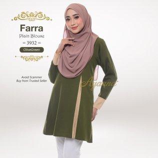 Farra Plain Blouse 3932 (OliveGreen)