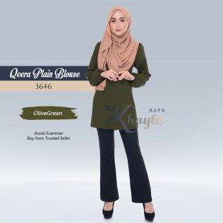Qeera Plain Blouse 3646 (OliveGreen)