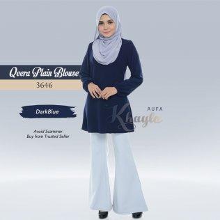 Qeera Plain Blouse 3646 (DarkBlue)