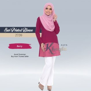 Suri Printed Blouse 2720 (Berry)