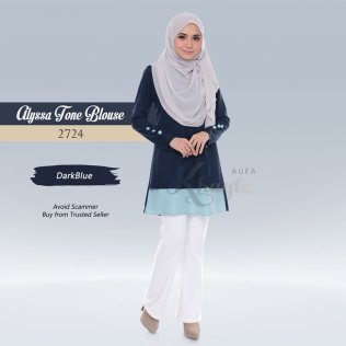 Alyssa Tone Blouse 2724 (DarkBlue)