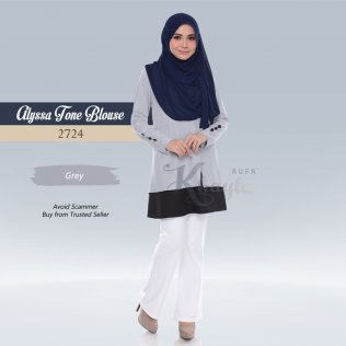 Alyssa Tone Blouse 2724 (Grey)