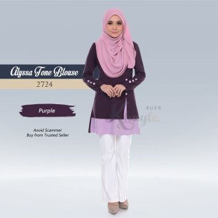 Alyssa Tone Blouse 2724 (Purple)
