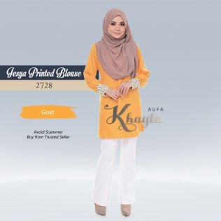 Jesya Printed Blouse 2728 (Gold)