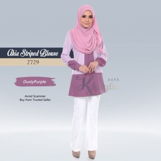 Akia Striped Blouse 2729 (DustyPurple)