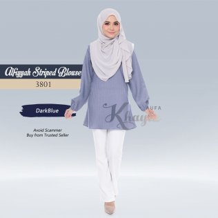 Alfiyyah Striped Blouse 3801 (DarkBlue)