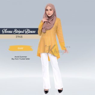 Neena Striped Blouse 3948 (Gold)