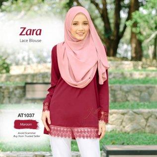 Zara Lace Blouse AT1037 (Maroon)