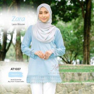 Zara Lace Blouse AT1037 (BabyBlue)