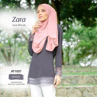 Zara Lace Blouse AT1037 (DarkGrey)