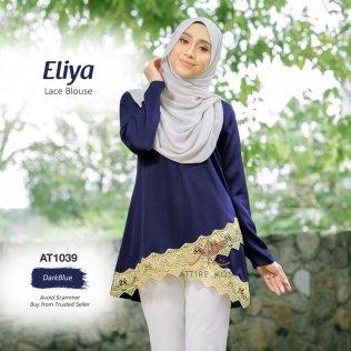 Eliya Lace Blouse AT1039 (DarkBlue)