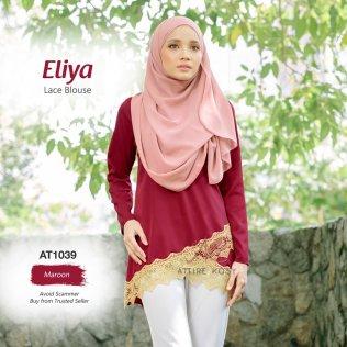Eliya Lace Blouse AT1039 (Maroon)