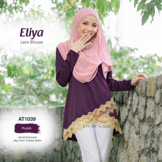 Eliya Lace Blouse AT1039 (Purple)