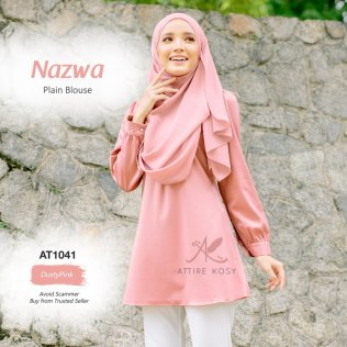 Nazwa Plain Blouse AT1041 (DustyPink)