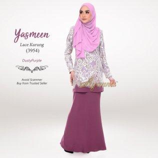 Yasmeen Lace Kurung 3954 (DustyPurple)