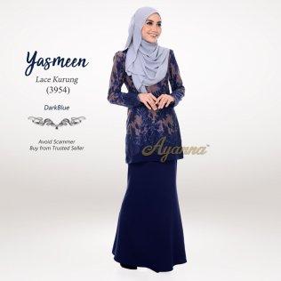Yasmeen Lace Kurung 3954 (DarkBlue)