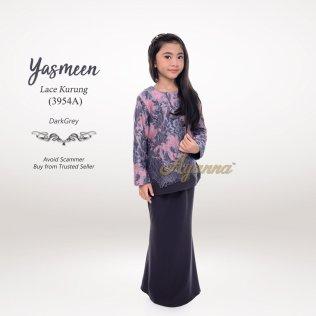 Yasmeen Lace Kurung 3954A (DarkGrey)