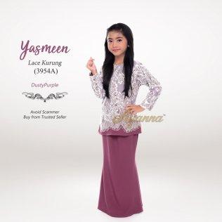 Yasmeen Lace Kurung 3954A (DustyPurple)
