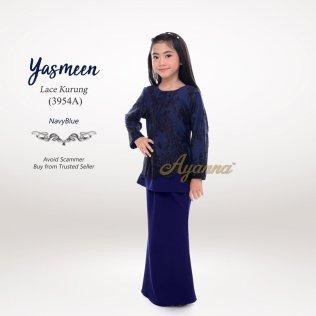 Yasmeen Lace Kurung 3954A (NavyBlue)