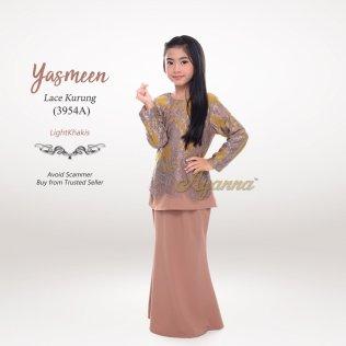 Yasmeen Lace Kurung 3954A (LightKhakis)