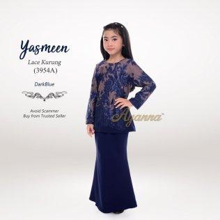 Yasmeen Lace Kurung 3954A (DarkBlue)