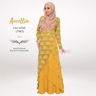 Aurellia Lace Jubah 3963 (Gold)
