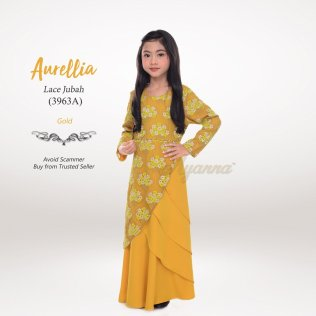 Aurellia Lace Jubah 3963A (Gold)