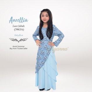 Aurellia Lace Jubah 3963A (BabyBlue)