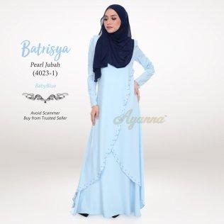 Batrisya Pearl Jubah 4023-1 (BabyBlue)