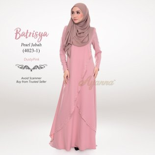 Batrisya Pearl Jubah 4023-1 (DustyPink)