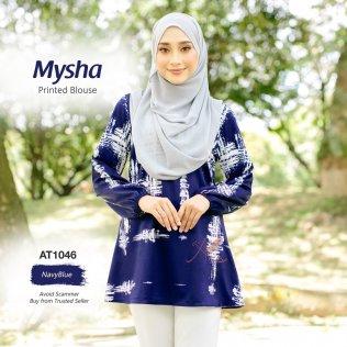 Mysha Printed Blouse AT1046 (NavyBlue)