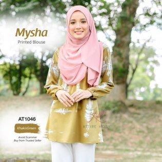 Mysha Printed Blouse AT1046 (KhakisGreen)