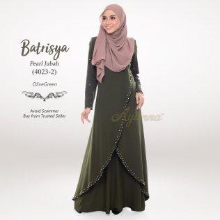 Batrisya Pearl Jubah 4023-2 (OliveGreen)