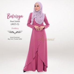 Batrisya Pearl Jubah 4023-2 (PinkBerry)