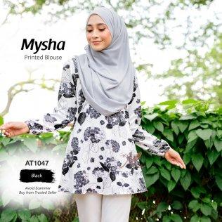 Mysha Printed Blouse AT1047 (Black)