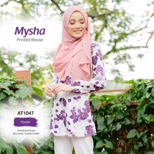 Mysha Printed Blouse AT1047 (Purple)