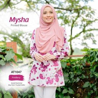 Mysha Printed Blouse AT1047 (PinkBerry)