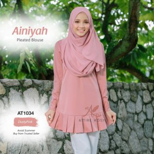 Ainiyah Pleated Blouse AT1034 (DustyPink)