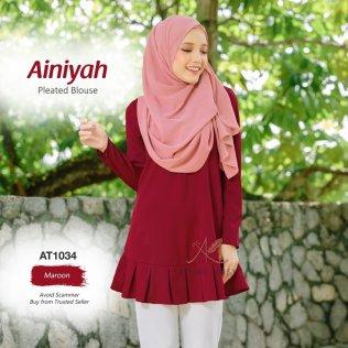 Ainiyah Pleated Blouse AT1034 (Maroon)